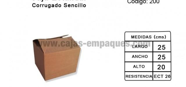 Caja de cartón estandar de corrugado sencillo para embalaje, ECT 26