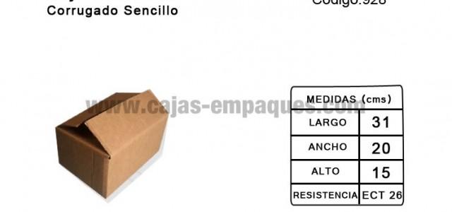 Caja de cartón estandar de corrugado sencillo, ECT 26