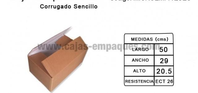 Caja de oportunidad corrugado sencillo para embalaje ECT 26