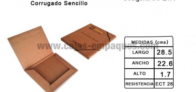 Carpeta de carton troquelada de corrugado sencillo, ECT 26