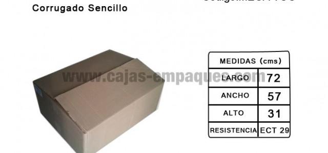 Caja de cartón usada corrugado sencillo para embalaje ECT 29