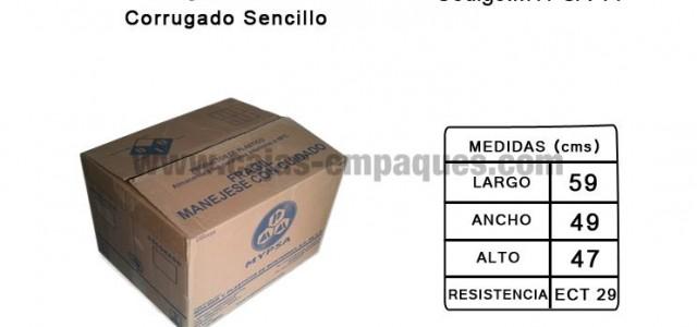 Caja de cartón usada de corrugado sencillo para embalaje ECT 29