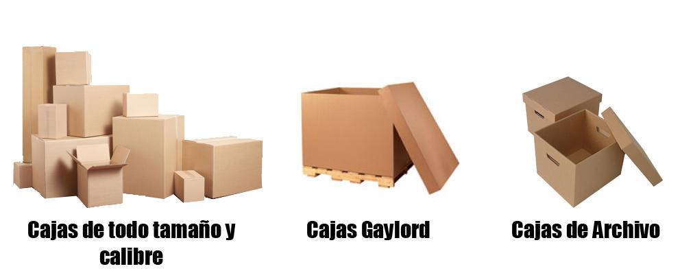 Cajas de cartón de diferentes tamaños, cajas gaylord y cajas para oficina y archivo muerto en Monterrey