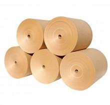 Rollos de papel virgen para fabricar cajas de cartón y productos de cartón